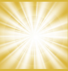 abstract of gold sky of bright sun shine vector image