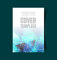 abstract report cover 13 vector image
