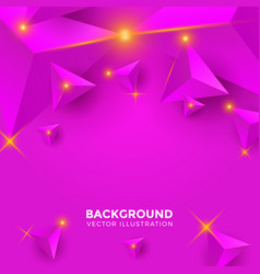 Abstract shiny purple triangle background 3d vector