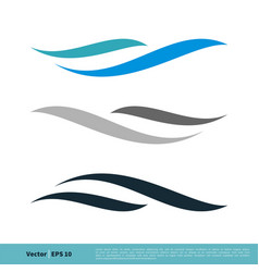 abstract wave swoosh icon logo template design vector image