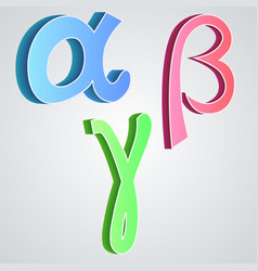 Alpha beta gamma greek alphabet vector image