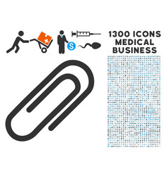 Attach paperclip icon with 1300 medical business vector
