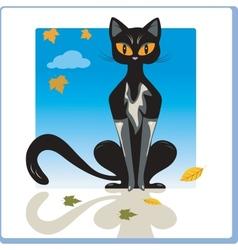 Autumn Cat vector image