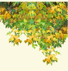 Background painted autumn yellow-green dense vector