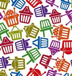 Basket pattern vector