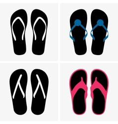 Beach shoes vector