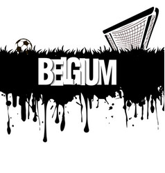 Belgium with a soccer ball and gate vector