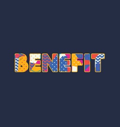 benefit concept word art vector image