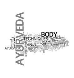 Benefits ayurveda text word cloud concept vector