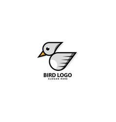 Bird flying logo design icon vector