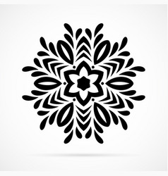 black geometry mandala over white vector image