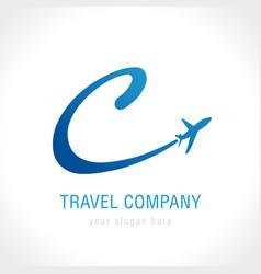 C travel company logo vector
