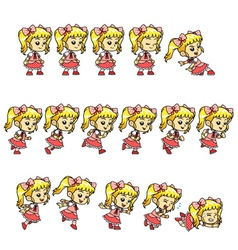 Candy Girl Game Sprites vector image