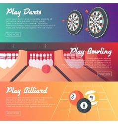 Casino Banner Set vector image