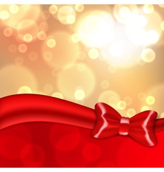 Christmas background with red bow vector image