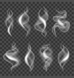 cigarette smokes icons photo realistic set vector image
