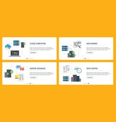 cloud computing data mining and data center vector image