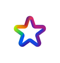 colorful star logo isolated star- icon on vector image