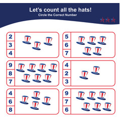 Counting game for preschool children educational vector