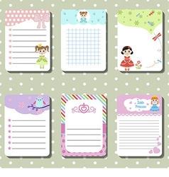 Cute creative cards vector