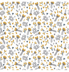 cute spring background seamless floral pattern vector image