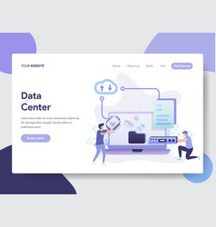 data center concept vector image