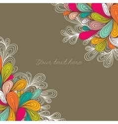 Decorative color element border vector image vector image