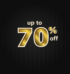 Discount up to 70 off label price gold template vector