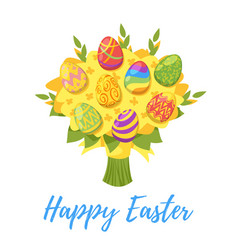 easter day greeting card vector image