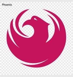 Emblem of phoenix vector
