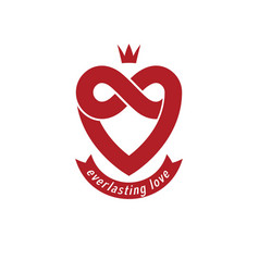 Everlasting love concept symbol created with vector
