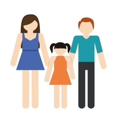 family mother father daughter together members vector image