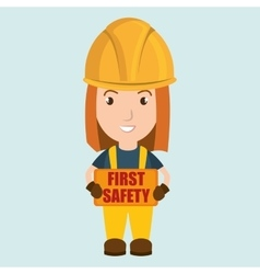 first safety worker icon vector image