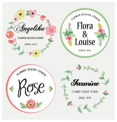 Flowers design elements vector
