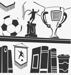 football trophies and elements vector image