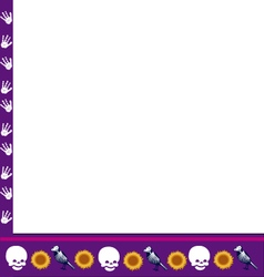 Frame with skulls vector