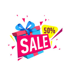 Gift sales proposition isolated sticker vector
