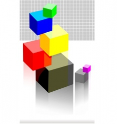 graph cubes vector image