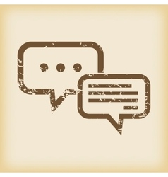 Grungy answering icon vector