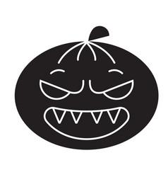 halloween emoji black concept icon vector image