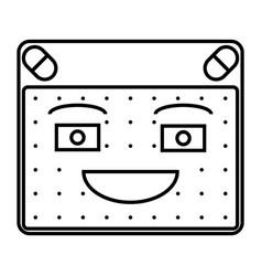 Happy emoticon vector