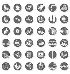 Health Spa icon set vector image