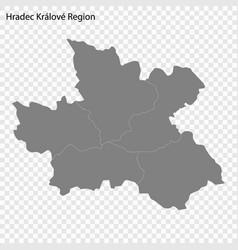 High quality map is a region czech republic vector