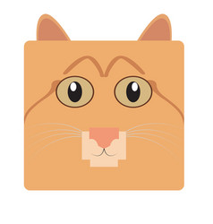 Isolated cat face vector