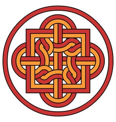 knot emblem vector image
