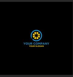 lemon p logo design vector image