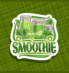 logo for green smoothie vector image