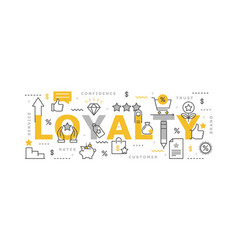 Loyalty program infographic vector
