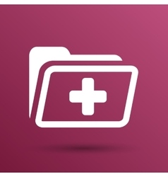 Medical health record folder flat icon for vector image