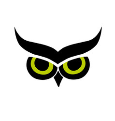 owl eyes black silhouette for your design vector image